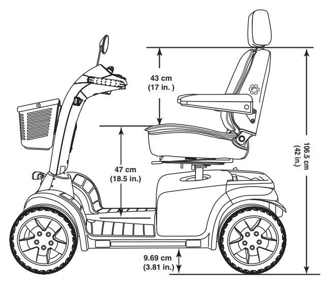 pride pathrider 130xl mobility scooter